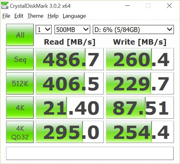 CrystalDiskMark Samsung SSD PM851
