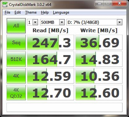 CrystalDiskMark SanDisk SSD U100
